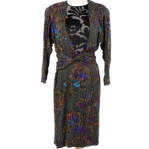 Vintage James Galanos Luxury Dress Silk Blend